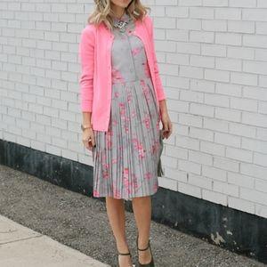 NWT Banana Republic gray and pink dress